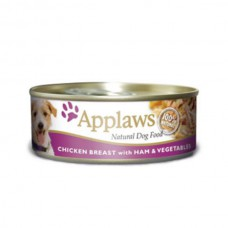 Applaws Cans Chicken Breast with Ham & Veg 16x156g