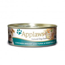 Applaws Cans Chicken Breast with Tuna & Veg 16x156g