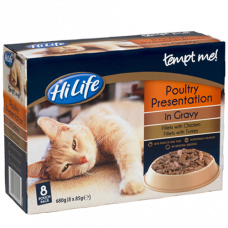 HiLife Tempt Me, Poultry in Gravy 8x85g (disc)