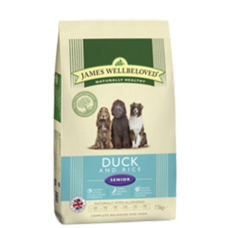 James Wellbeloved 2 x Senior Duck & Rice 15kg
